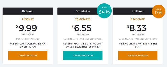 HideMyAss Test Preise